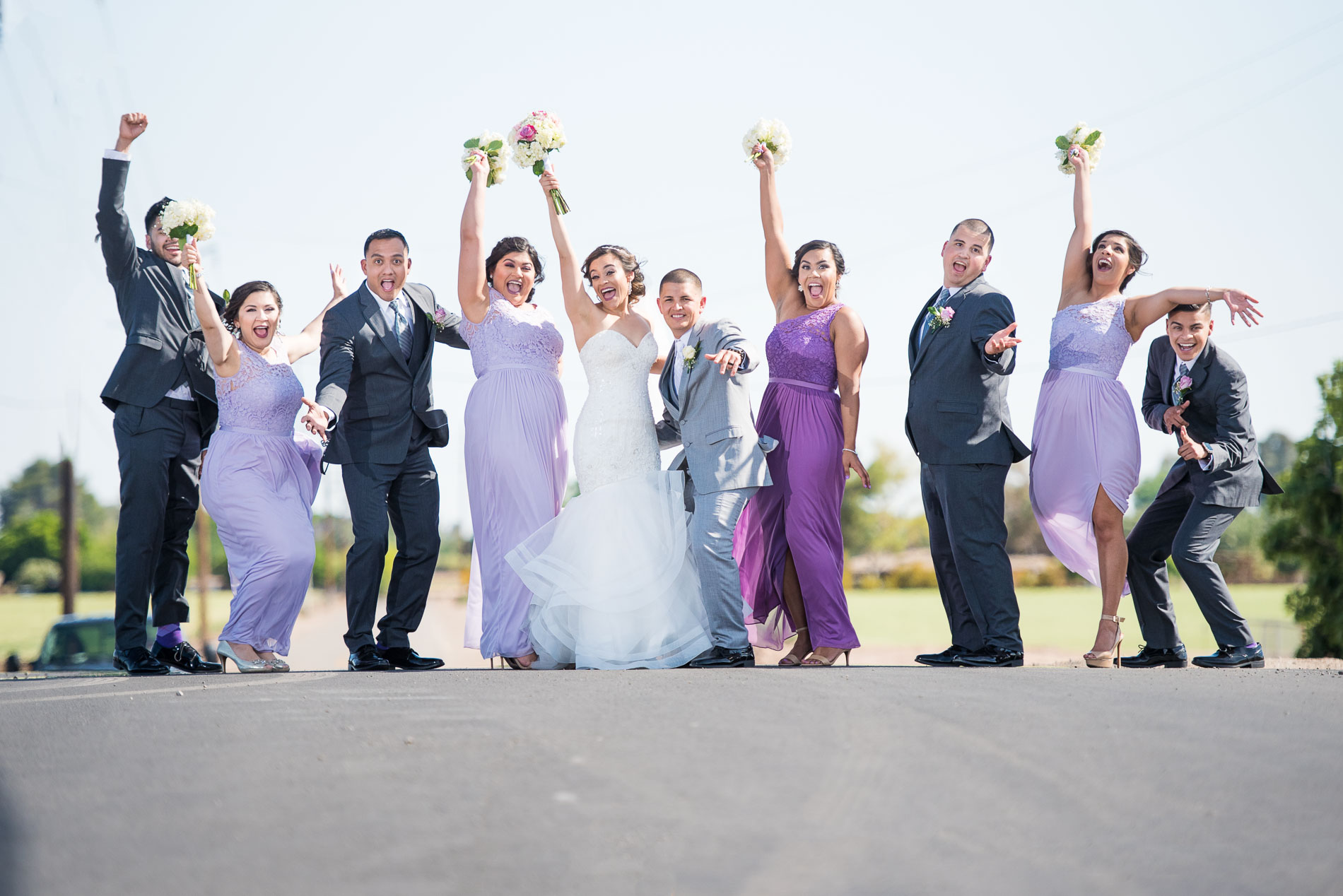 Creative Bridal Party Portrait Celebrate Clic Wedding