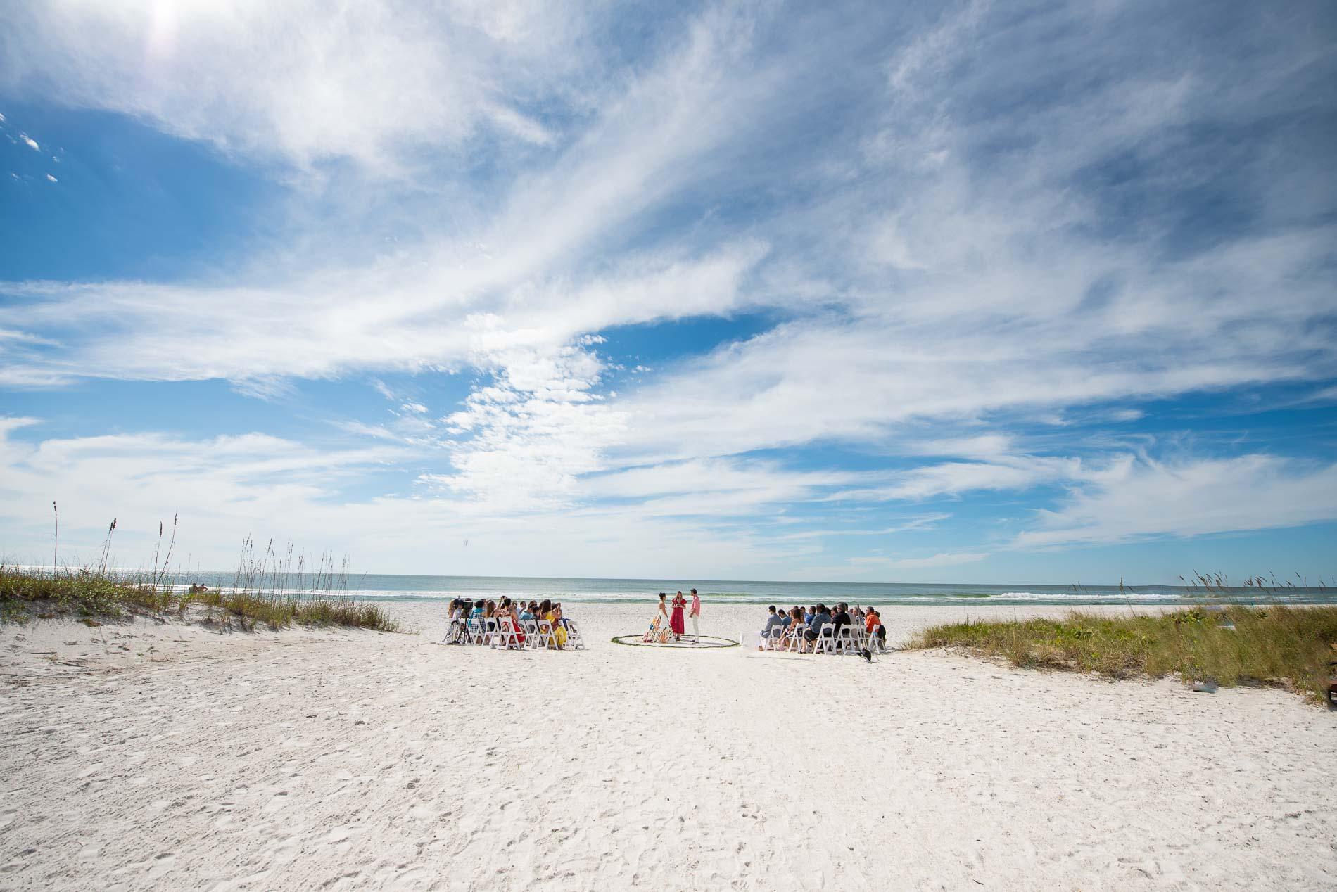 Beach Wedding Ceremony Cedar Cove Resort Holmes Florida
