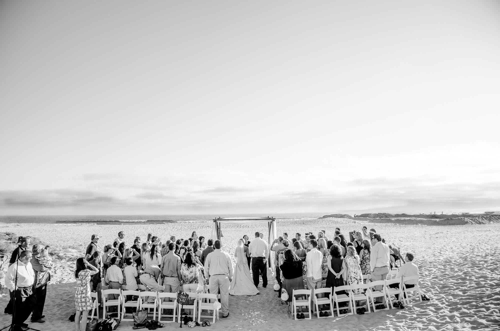 Beach wedding photography shot by Fallbrook Photography