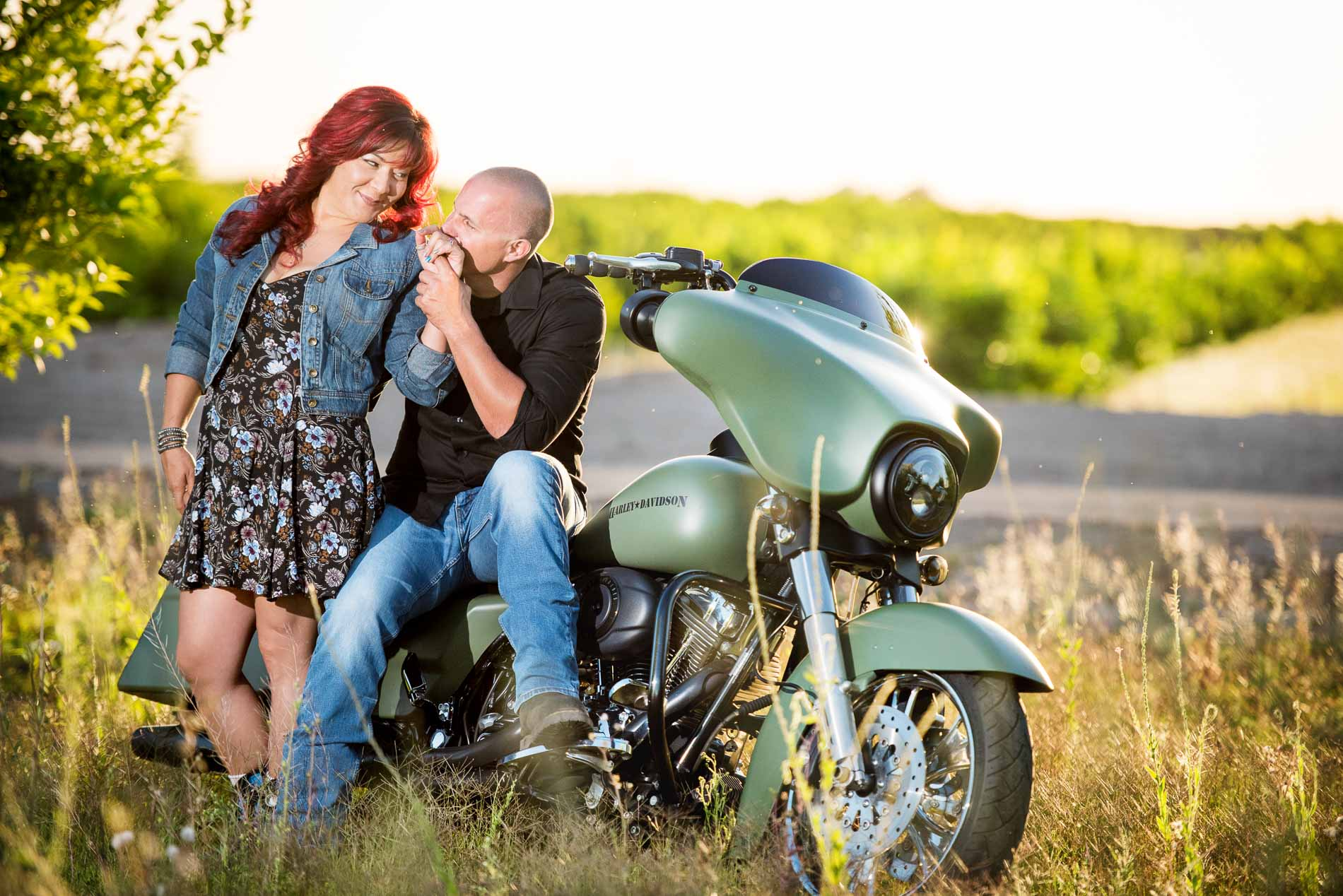 Harley Engagement Session